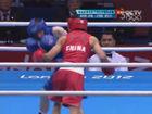 视频录播-男子拳击半决赛 邹市明vs巴恩斯第1局