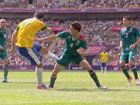 视频-达米奥门前欲射 墨西哥后卫舍身将球捅出