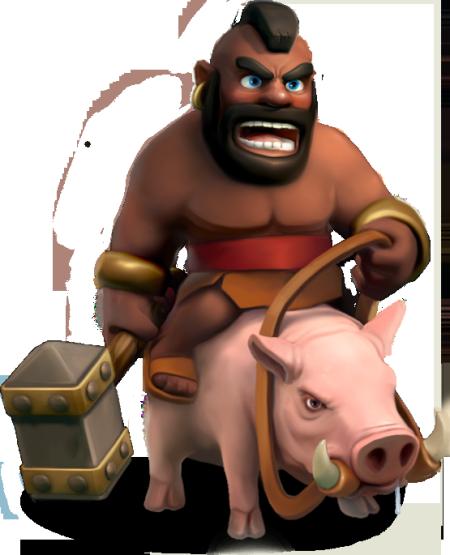 3月更新增加的野猪骑士,很像美国明星MR T