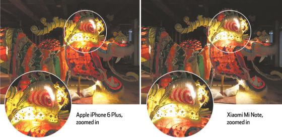 小米Note与iPhone 6 Plus拍照对比