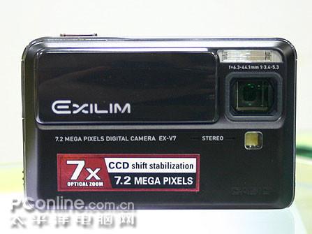 潜望式7倍光变卡片卡西欧V7现售2450元
