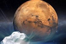 赛丁泉彗星20日凌晨与火星擦身:百万年一遇