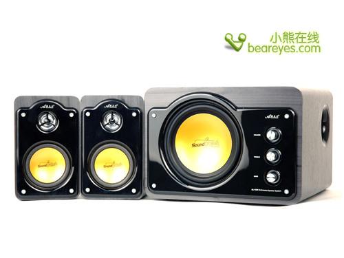 雅兰仕 alans 多媒体音箱 al-929 音响 卧式设计