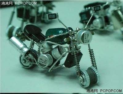 利用废旧摩托车制作家具