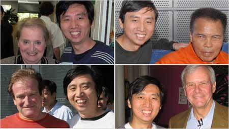 """科技时代_谷歌工程师一""""拍""""成名 与名人合影上瘾(图)"""