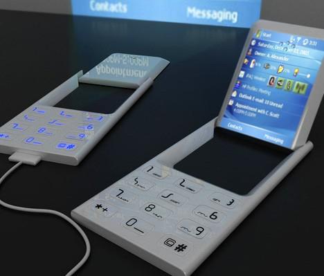 翻转液晶屏幕超级强悍概念投影手机曝光
