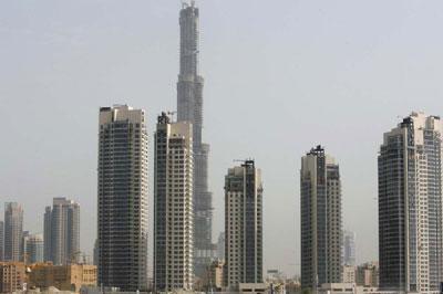 阿联酋迪拜塔未竣工已成全球第一高楼(图)