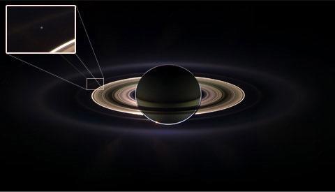 太空看地球十佳照片:旅行者号黯淡蓝点居首