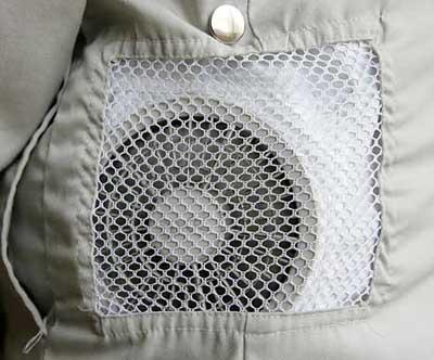 日本公司将风扇置入衣服发明空调服(图)