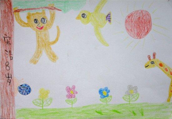 青花瓷儿童画比赛作品展示