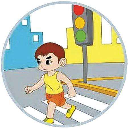 儿童版过马路安全3要诀