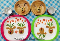 圣诞妈妈给孩子做的圣诞早餐(图)