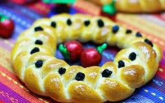 编个漂亮花环快乐迎圣诞--圣诞花环面包(图)