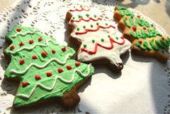 在饼干上作画--圣诞糖霜饼干(图)