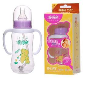 爱得利带柄圆弧自动奶瓶