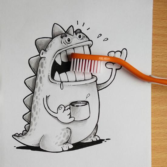 蛀牙,叫你们欺负我,看我的无敌泡沫刷!