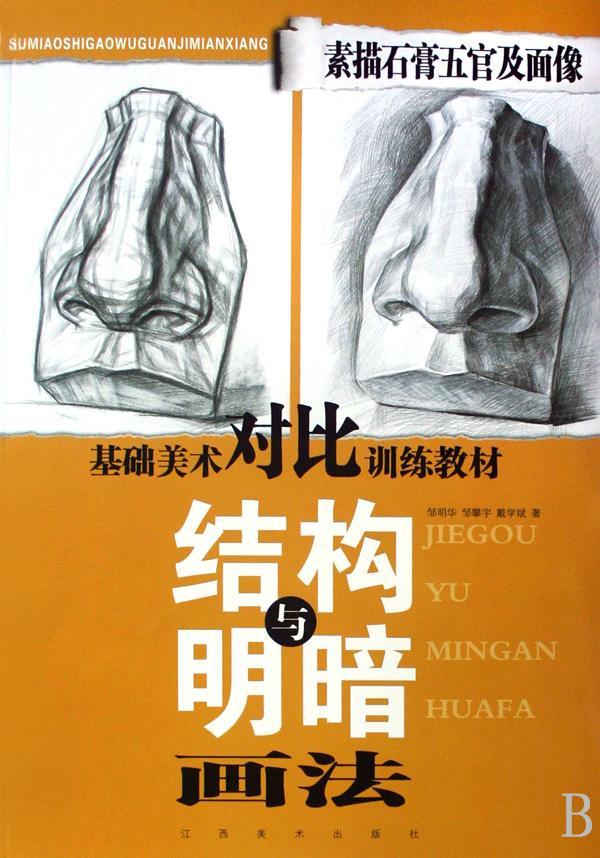 素描石膏五官及面像结构与明暗画法(基础美术对比训练教材)