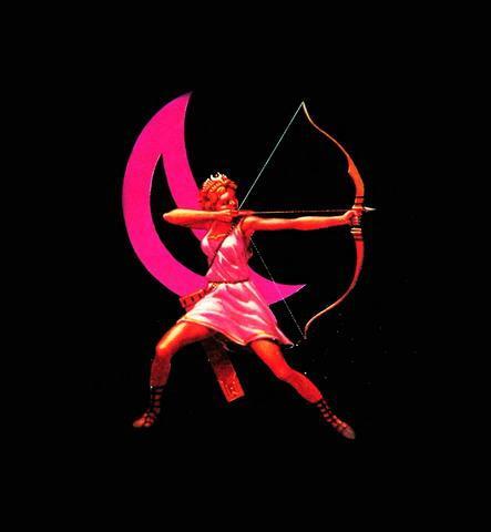 月亮女神阿尔特弥斯和月亮符号