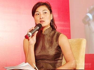 图文:天泽传播总裁梁蓉发言