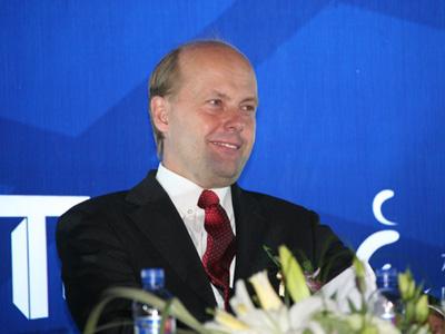 图文:德国投资与开发有限公司总裁石泰龙