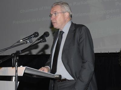 图文:欧洲议会对华关系代表团主席迪克.斯特克斯