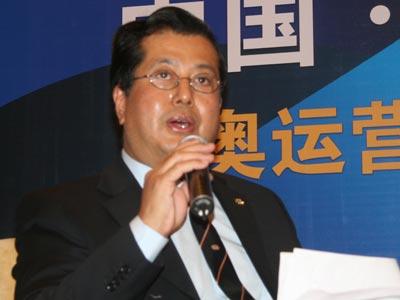 图文:中央电视台体育节目中心副主任岑传理
