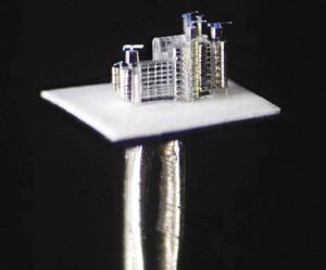 艺术家制作出针头大小缩微版大楼(图)