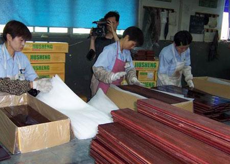 浙江南浔区打造中国实木地板之都