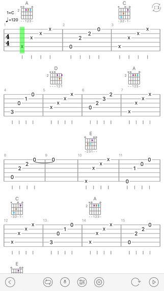 手机吉他乐谱-免费吉他谱