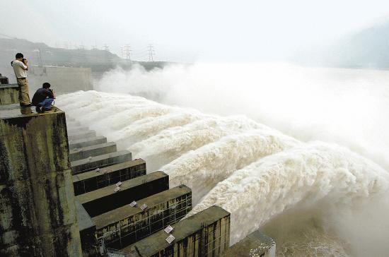 三峡工程大泄洪