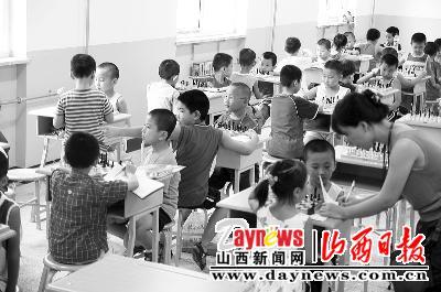 小学生中国象棋图片