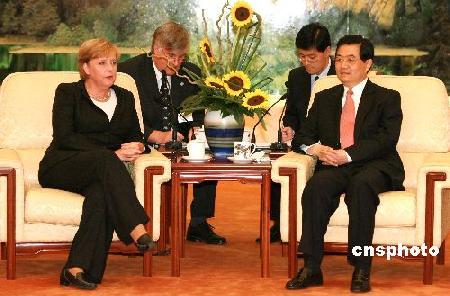 胡锦涛会见德国总理默克尔(组图)