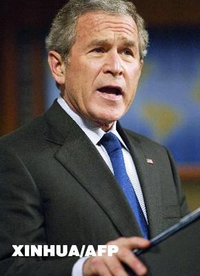 美方称布什会晤胡锦涛时将重申反对台湾入联