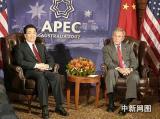 中美元首会晤 布什表示反对改变台海现状