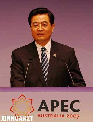 胡锦涛出席APEC第15次领导人非正式会议