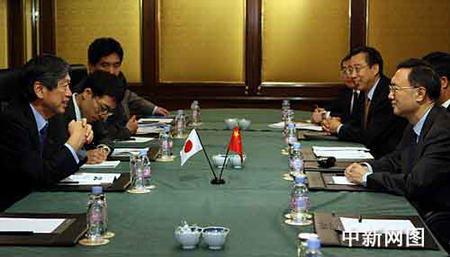 中日外长会晤日外相称不支持台湾入联(图)