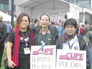 加华人工会多伦多集会 呼吁关注新移民生活处