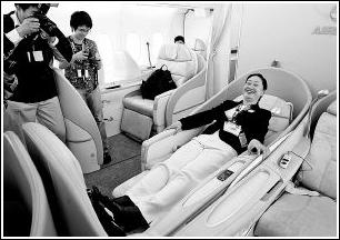 空客A380上海亮相(图)