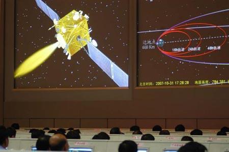 嫦娥一号第4次变轨成功进入地月转移轨道