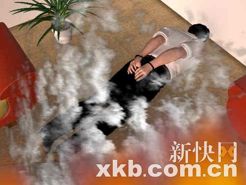 被绑男尸惊现火场做美女俯卧撑身上图片