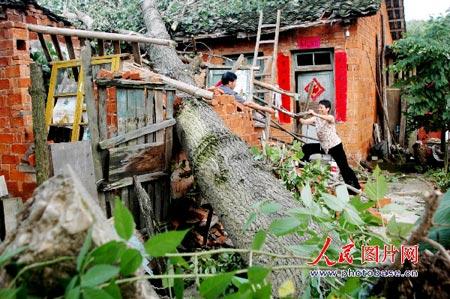 江西上饶遭雷电大风暴雨袭击16人身亡(组图)