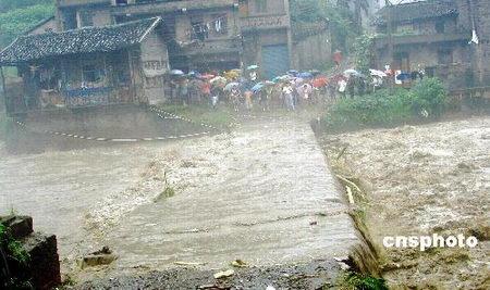 图文:华蓥山区山洪泛滥