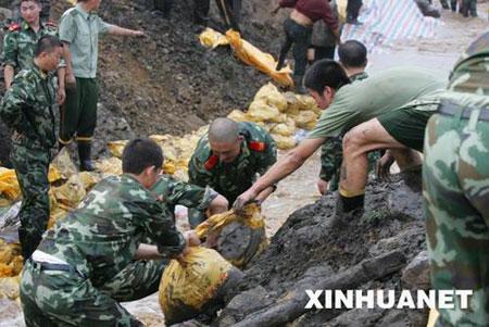 河南陕县发生煤矿透水事故(组图)