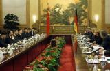 组图:温家宝与德国总理默克尔举行会谈