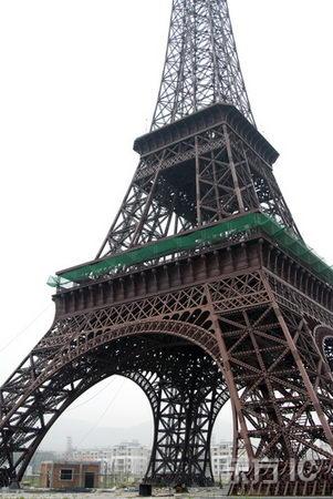 组图:杭州仿建埃菲尔铁塔即将竣工