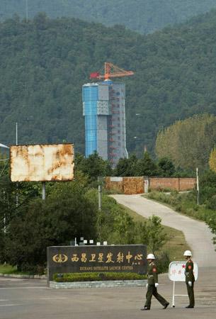 组图:西昌卫星发射中心大门已开始戒严