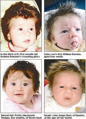 婴儿头发扎法图解步骤
