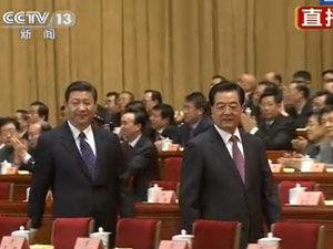 视频:政协会议开幕 胡锦涛习近平步入会场