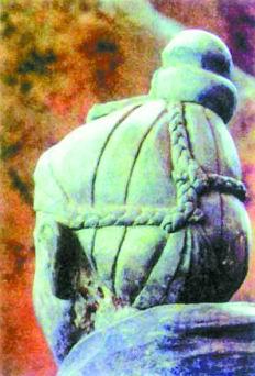 英一作家称秦俑的发型图片
