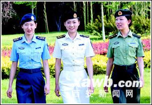 这是陆海空女军官夏常服.据新华社电(记者胥金章白瑞雪)全军军服图片